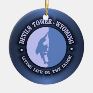 Devils Tower Christmas Ornament