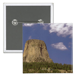 Devils Tower in Wyoming 15 Cm Square Badge