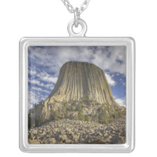 Devils Tower National Monument 2 Silver Plated Necklace