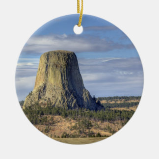 Devils Tower National Monument 3 Christmas Ornament