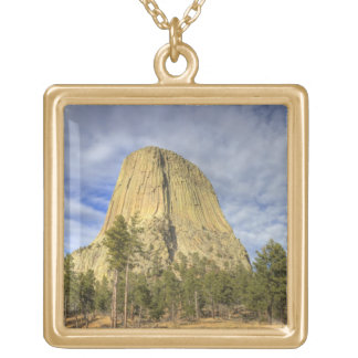 Devils Tower National Monument 4 Gold Plated Necklace