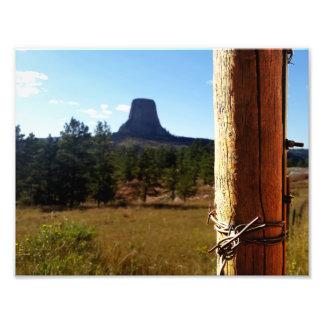 Devils Tower National Monument Art Photo