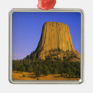 Devils Tower National Monument in Wyoming Silver-Colored Square Decoration
