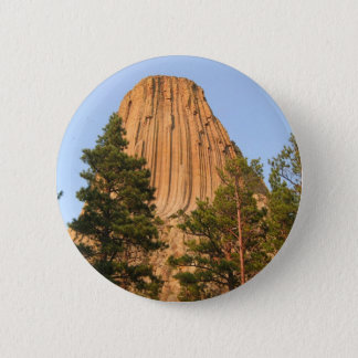 Devils Tower National Monument, Wyoming 6 Cm Round Badge
