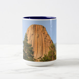 Devils Tower National Monument, Wyoming Two-Tone Coffee Mug