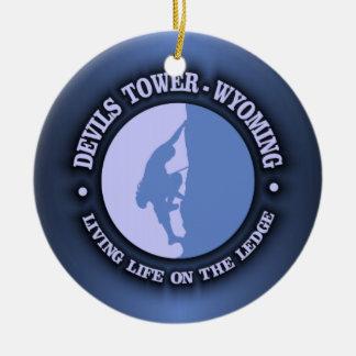 Devils Tower Round Ceramic Decoration