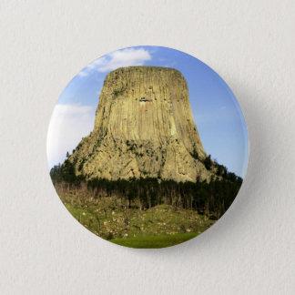 Devil's Tower, Wyoming 6 Cm Round Badge
