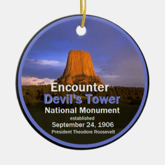 Devil's Tower WYOMING Christmas Ornament