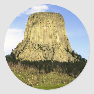 Devil's Tower, Wyoming Classic Round Sticker