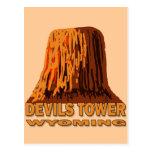 DEVILS TOWER WYOMING POSTCARD