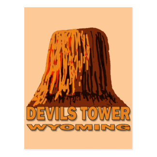 DEVILS TOWER WYOMING POSTCARD