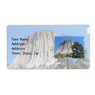 Devils Tower, Wyoming Shipping Label