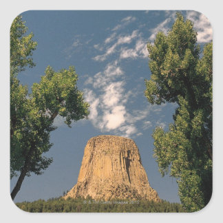 Devil's Tower , Wyoming , USA Square Sticker