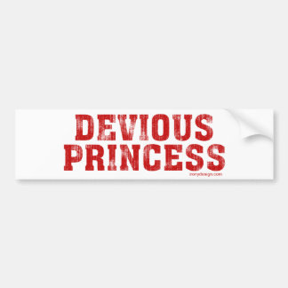 Devious Princess Car Bumper Sticker