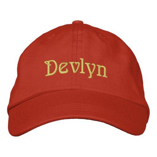 DEVLYN Name Designer Cap Embroidered Hat
