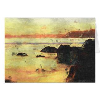 Devon Beach Sunset Card