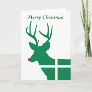 Devon Christmas Reindeer Christmas Card