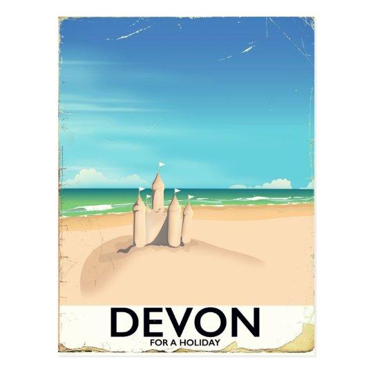 Devon, England for a holiday. Postcard
