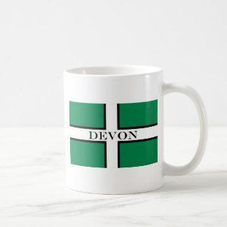 Devon flag basic white mug