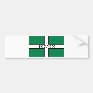 Devon flag bumper sticker