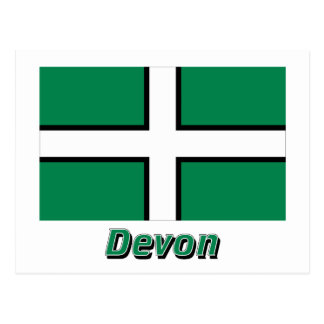 Devon Flag with Name Postcard