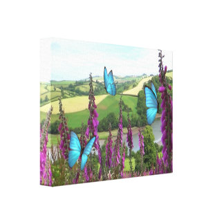 Devon Foxgloves Canvas Print