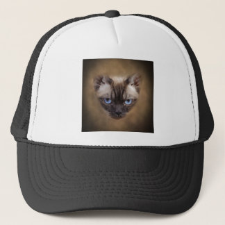 Devon Rex cat face Trucker Hat