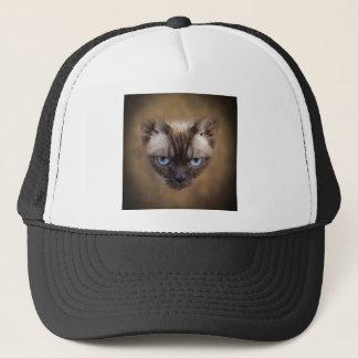 Devon Rex cat face Trucker Hat
