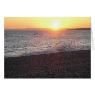 Devon sunset, Budleigh Salterton Card