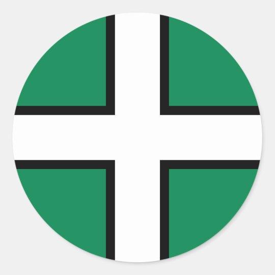 Devon, United Kingdom flag Classic Round Sticker