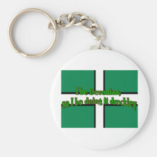 Devonians Be Doing It Dreckley Basic Round Button Key Ring