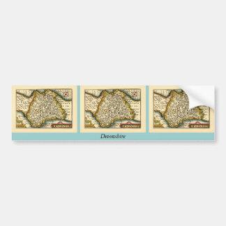 """""""Devonshire"""" Devon County Map, England Bumper Sticker"""
