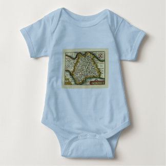 """Devonshire"" Devon County Map, England Infant Creeper"