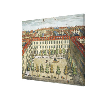 Devonshire Square, for 'Stow's Survey of London', Canvas Print