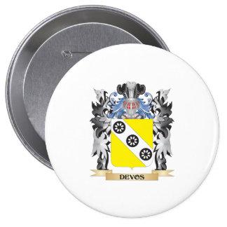 Devos Coat of Arms - Family Crest 10 Cm Round Badge