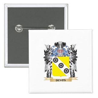 Devos Coat of Arms - Family Crest 15 Cm Square Badge