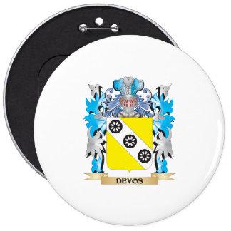 Devos Coat of Arms - Family Crest Pinback Button