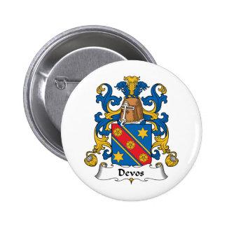 Devos Family Crest Button