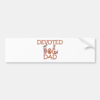 Devoted Dog Dad Bumper Sticker