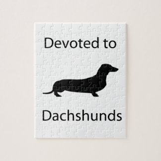 Devoted to Dachshunds Jigsaw Puzzle