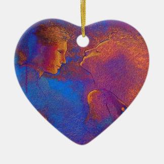 Devotion Valentine token Ceramic Heart Decoration