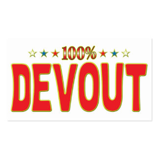 Devout Star Tag Business Card Templates