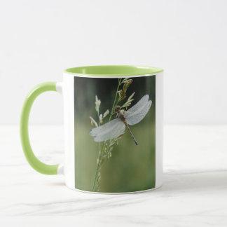 Dew covered Darner Dragonfly Mug