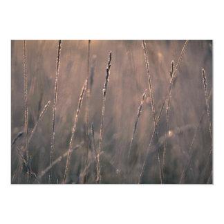 Dew-covered grass at dawn 13 cm x 18 cm invitation card