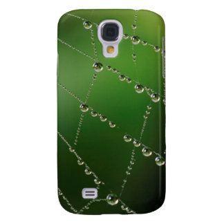 Dew Covered Spider Web Galaxy S4 Case