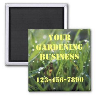 Dew Drop Grass Gardening Business Magnet