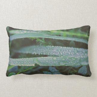 Dew drops in the grass lumbar cushion