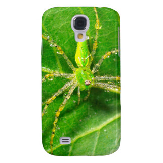 Dew on a Green Lynx Spider Galaxy S4 Case