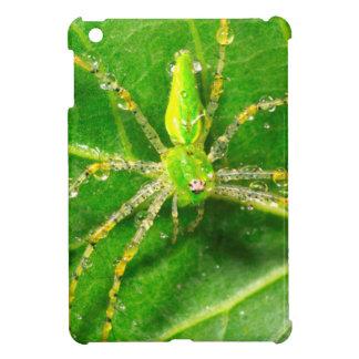 Dew on a Green Lynx Spider iPad Mini Covers