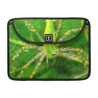 Dew on a Green Lynx Spider Sleeve For MacBooks